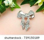 Brooch Silver Bow Beautiful...