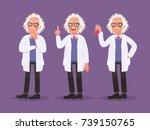 character set of a scientist.... | Shutterstock .eps vector #739150765
