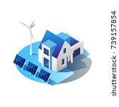 green energy and eco friendly... | Shutterstock .eps vector #739157854