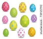 easter eggs | Shutterstock .eps vector #73915792