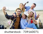 friends travelling together | Shutterstock . vector #739160071
