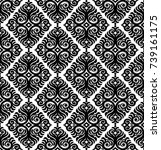 vector. seamless damask pattern.... | Shutterstock .eps vector #739161175