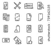 phone repair icon set. breakage ... | Shutterstock .eps vector #739162135