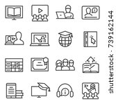 e learning icon set  thin line... | Shutterstock .eps vector #739162144