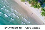 top view of waves on the sea.... | Shutterstock . vector #739168081