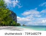 a very beautiful beach on the... | Shutterstock . vector #739168279