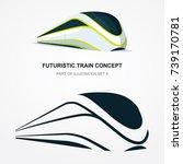 high speed futuristic train...   Shutterstock .eps vector #739170781