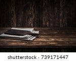 dark wooden table for product ... | Shutterstock . vector #739171447