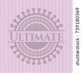 ultimate vintage pink emblem | Shutterstock .eps vector #739180369