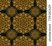 seamless pattern. traditional... | Shutterstock .eps vector #739181629