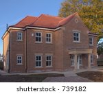 Nearly completed house - stock photo