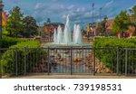 Fountain in Brick town, Oklahoma