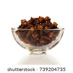 cloves spice on a white... | Shutterstock . vector #739204735
