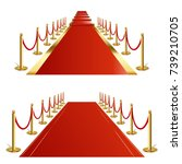 red carpet | Shutterstock .eps vector #739210705