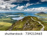 the hiking trail at the top of... | Shutterstock . vector #739213465