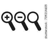 magnifier glass icons   Shutterstock .eps vector #739214605
