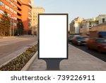 blank street billboard poster... | Shutterstock . vector #739226911