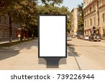 blank street billboard poster... | Shutterstock . vector #739226944