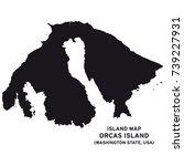 island map of orcas island... | Shutterstock .eps vector #739227931