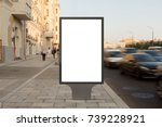 blank street billboard poster... | Shutterstock . vector #739228921
