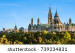 beautiful parliament hill in... | Shutterstock . vector #739234831