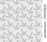 seamless pattern with fir...   Shutterstock .eps vector #739235629