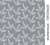 seamless pattern with fir...   Shutterstock .eps vector #739235635