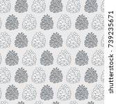 seamless pattern with hand...   Shutterstock .eps vector #739235671