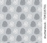 seamless pattern with hand...   Shutterstock .eps vector #739235701