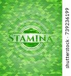 stamina green emblem. mosaic... | Shutterstock .eps vector #739236199