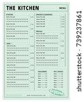 menu design template for...   Shutterstock .eps vector #739237861