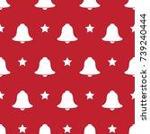 pattern seamless christmas... | Shutterstock .eps vector #739240444