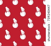 pattern seamless christmas... | Shutterstock .eps vector #739240447