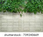 wall of nature mix concrete  ... | Shutterstock . vector #739240669