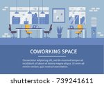 coworking office background... | Shutterstock . vector #739241611