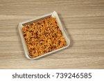granola on parchment paper...   Shutterstock . vector #739246585
