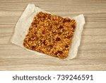granola on parchment paper...   Shutterstock . vector #739246591