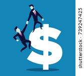 illustration vector businessman ... | Shutterstock .eps vector #739247425