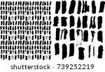 hand drawn striped seamless... | Shutterstock .eps vector #739252219