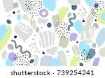 brush  marker  pencil stroke... | Shutterstock .eps vector #739254241