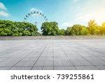 empty floor square and... | Shutterstock . vector #739255861