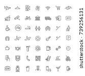 simple set of public navigation ... | Shutterstock .eps vector #739256131