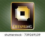 gold emblem or badge with... | Shutterstock .eps vector #739269139