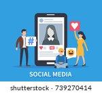 social media concept banner.... | Shutterstock . vector #739270414