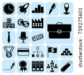 set of 22 business symbols of... | Shutterstock .eps vector #739275601