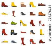 footwear shoes icon set... | Shutterstock . vector #739276189