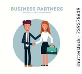 business man and woman. two... | Shutterstock .eps vector #739278619