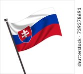 flag of slovakia. slovakia icon ...   Shutterstock .eps vector #739278691