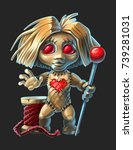 The Voodoo Doll With Red Eyes ...