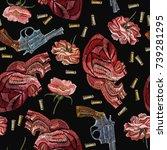 embroidery guns  flowers... | Shutterstock .eps vector #739281295